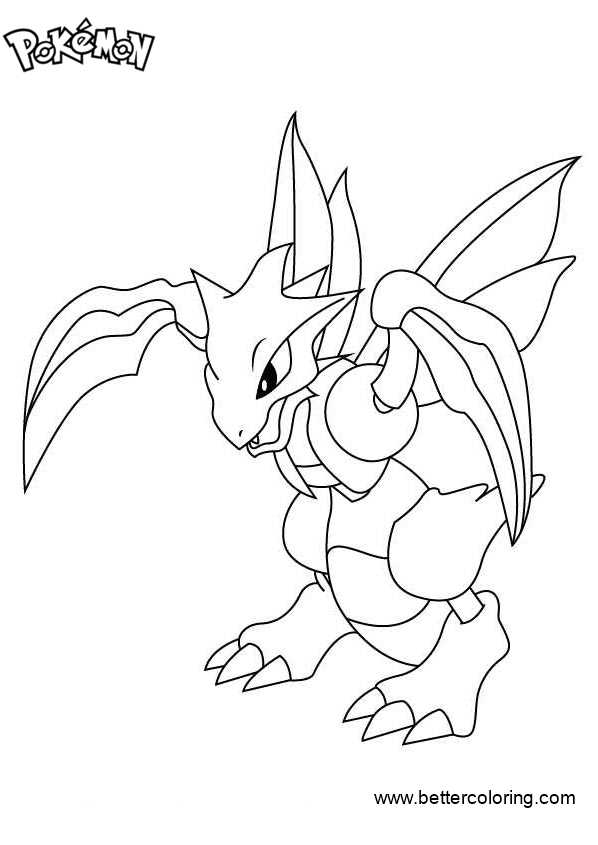 Free Pokemon Coloring Pages Scyther printable