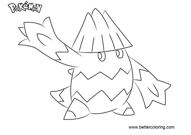 Free Pokemon Coloring Pages Snover printable