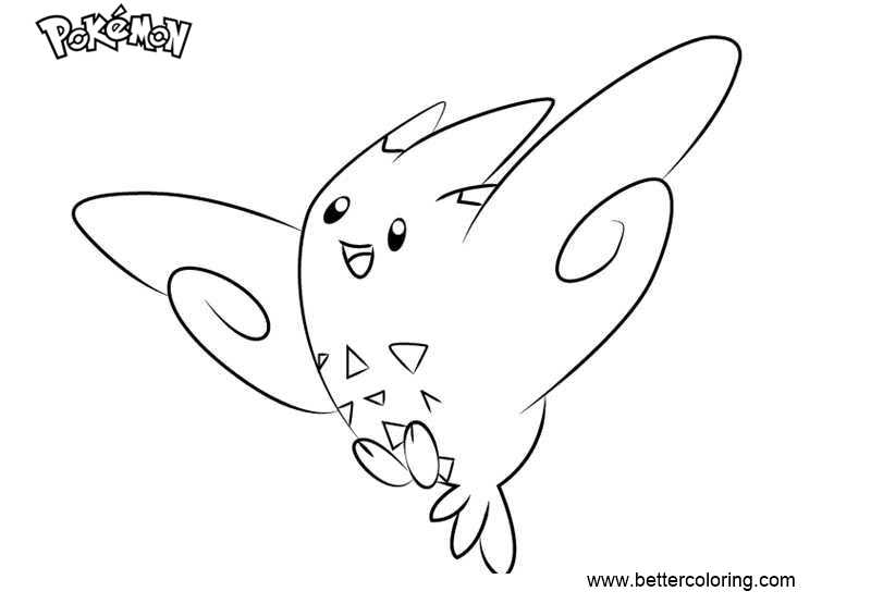 Free Pokemon Coloring Pages Togekiss printable
