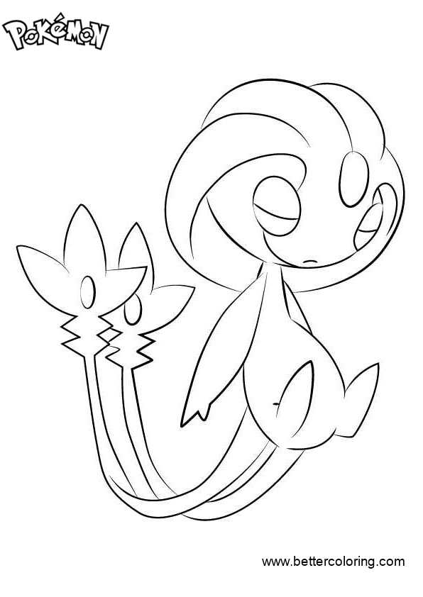 Free Pokemon Coloring Pages Uxie printable