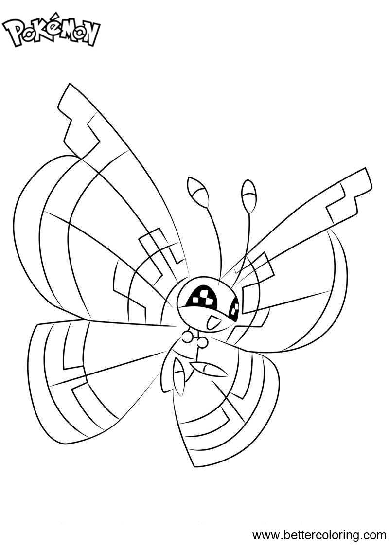Free Pokemon Coloring Pages Vivillon printable