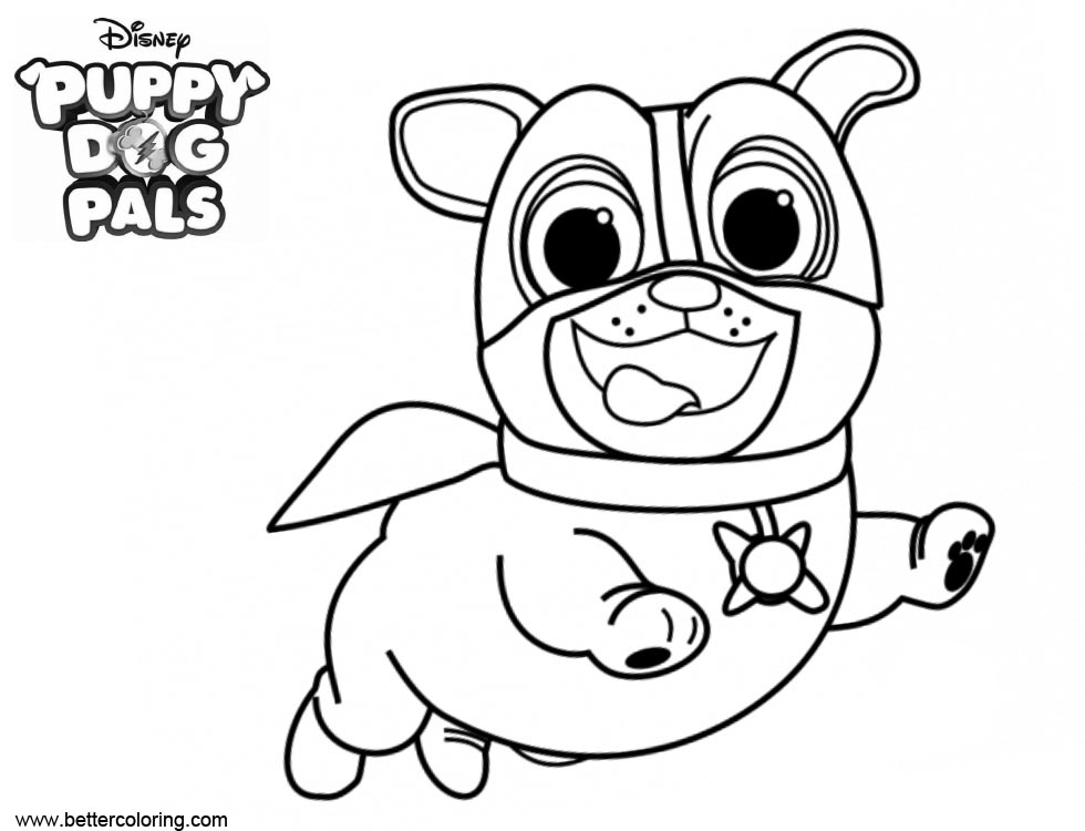Puppy Dog Bingo Coloring Pages Super Rolly - Free Printable Coloring ...