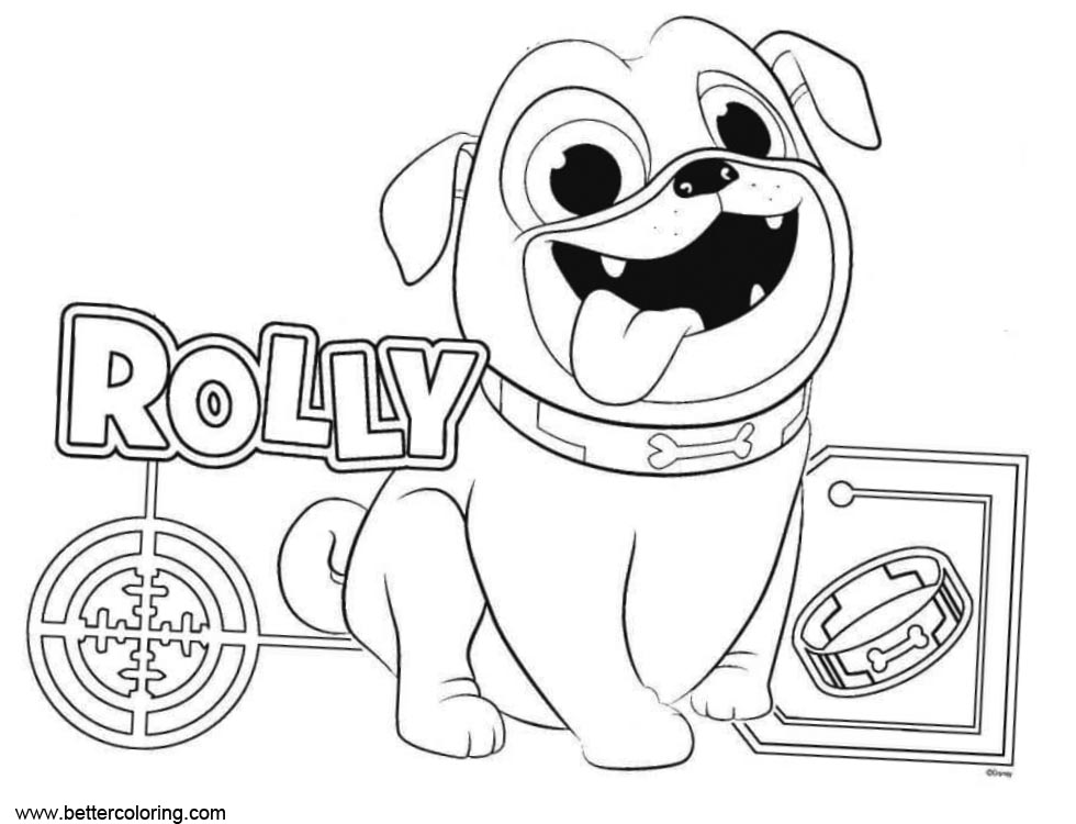 Puppy Dog Bingo Rolly Coloring Pages