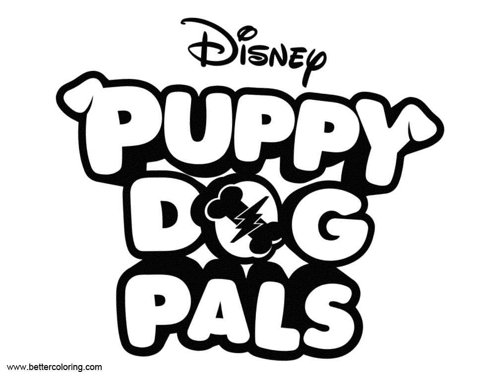 Puppy Dog Pals Coloring Pages Logo Free Printable Coloring
