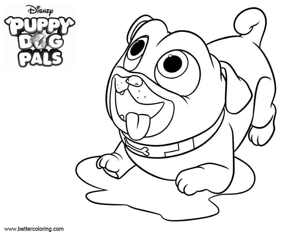 Free Puppy Dog Pals Coloring Pages Wait for Food printable