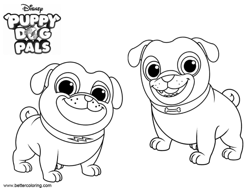 Puppy Dog Pals Coloring Pages Free Printable Coloring Pages