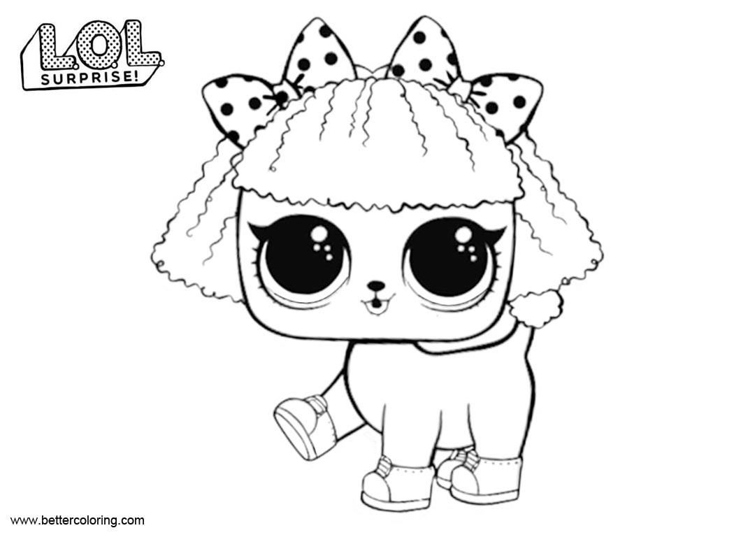 Pupsta From Lol Surprise Pets Coloring Pages Free Printable