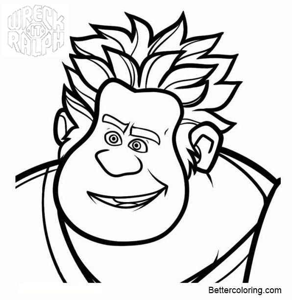 Free Ralph from Wreck It Ralph Coloring Pages printable