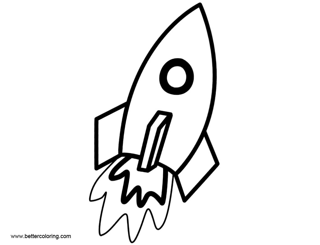 Rocket Ship Coloring Pages Clip Art