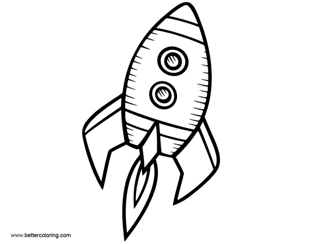 Rocket Ship Coloring Pages Pattern