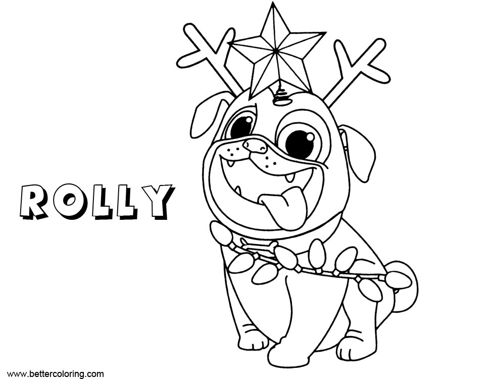 Free Rolly from Puppy Dog Pals Coloring Pages printable