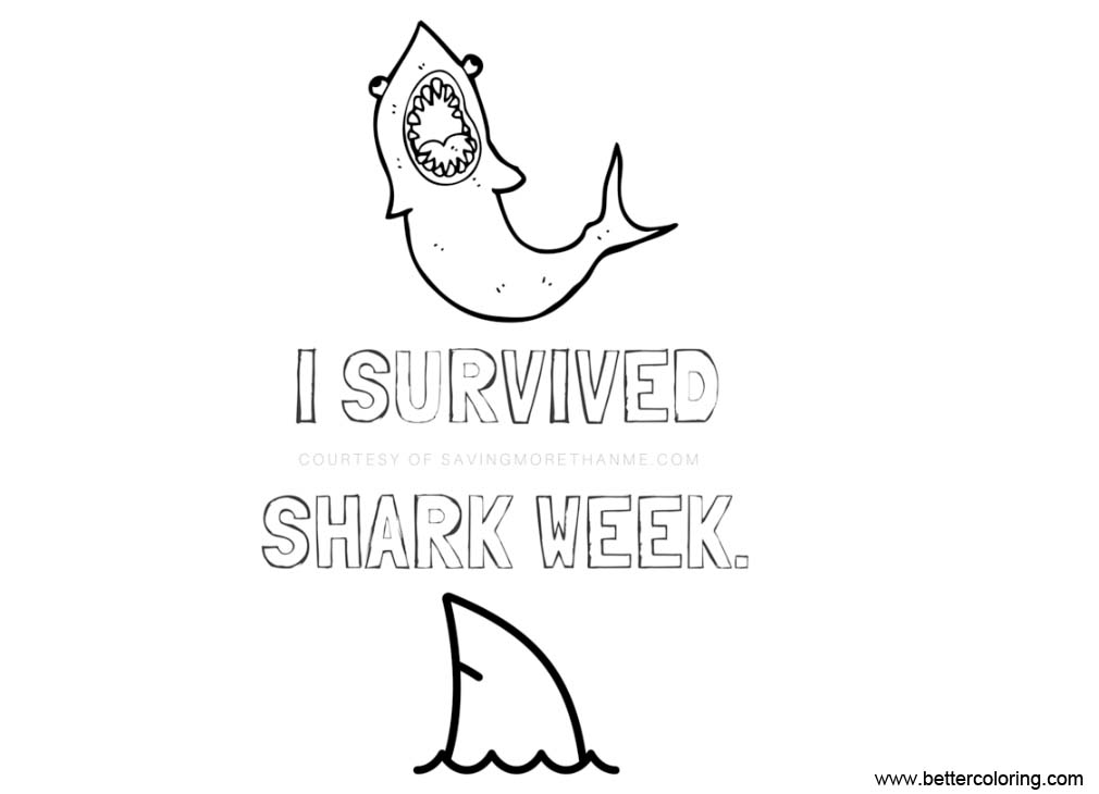 Free Shark Week Coloring Pages Design Pictures printable