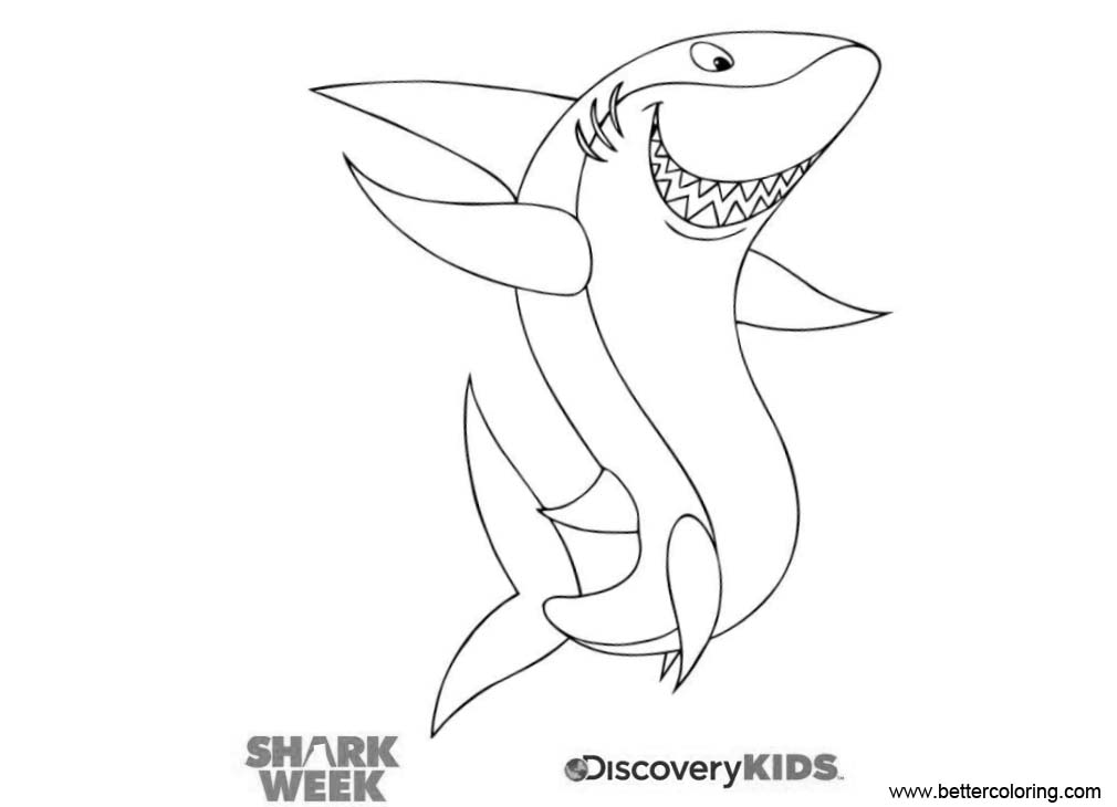 Shark Week Coloring Pages Shark Party - Free Printable ...