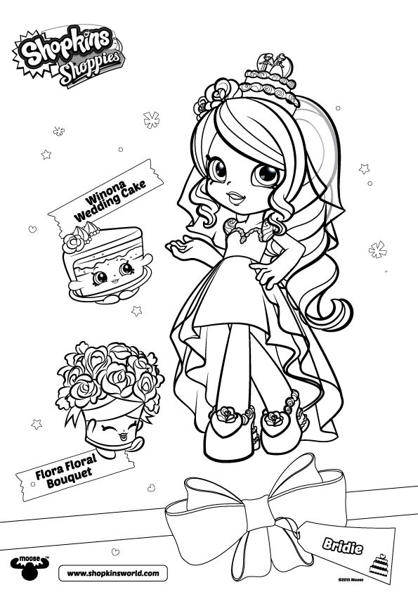 Free Shopkins Shoppies Coloring Pages Bridie printable
