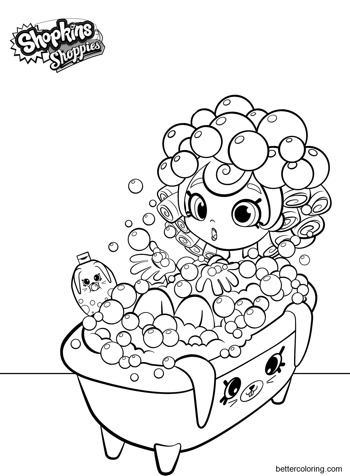 Shopkins Shoppies Coloring Pages