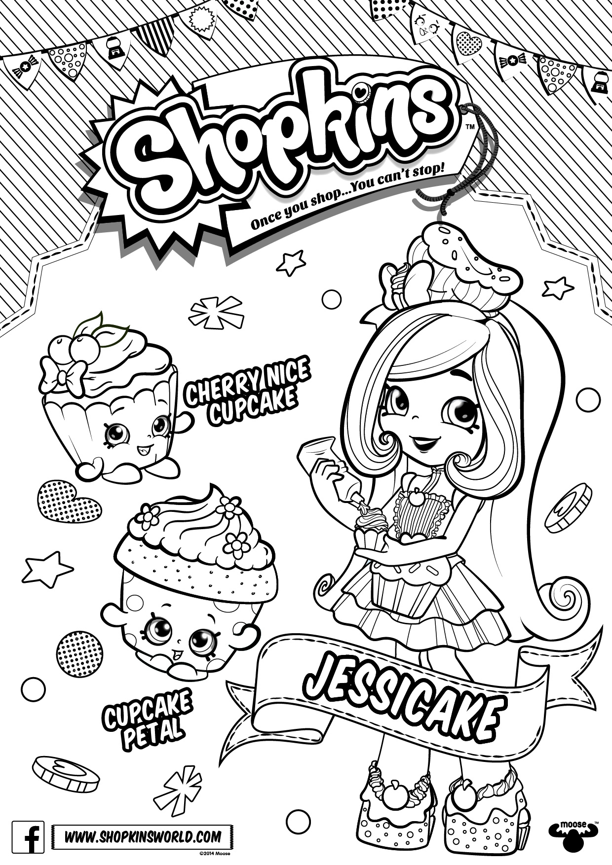 Free Shopkins Shoppies Coloring Pages Chef Club printable