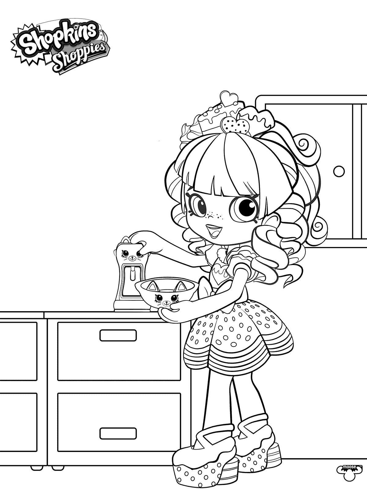 Free Shopkins Shoppies Coloring Pages Happy Places printable