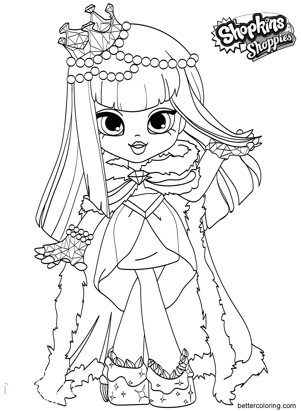 free printout coloring pages | Shoppies Coloring Page - Free Printable Coloring Pages