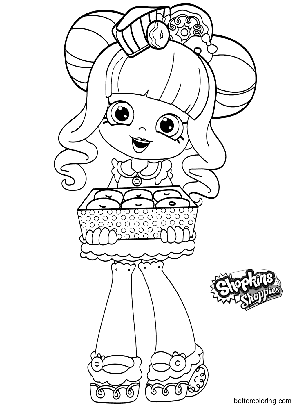 Free Shoppies Coloring Pages Black and White printable