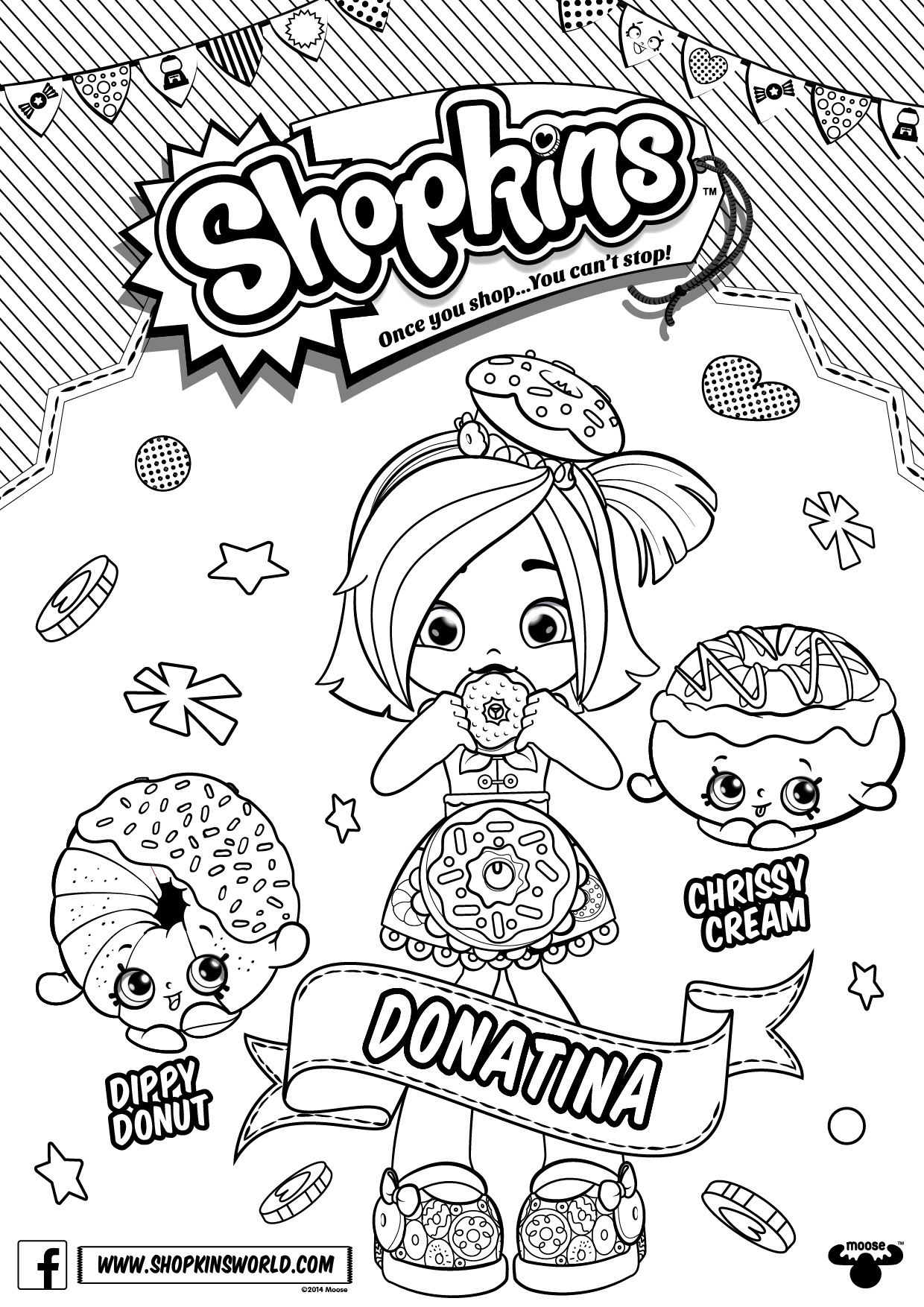 Free Shoppies Coloring Pages Line Drawings printable