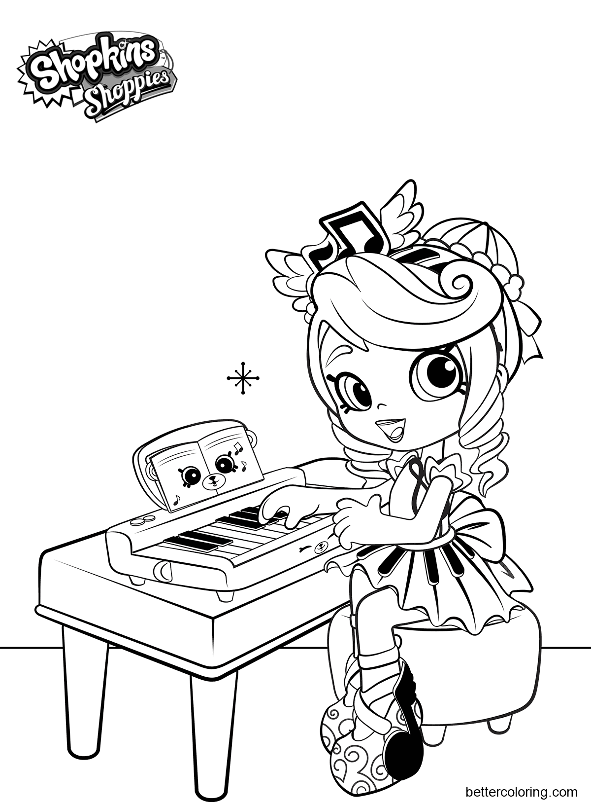 free shoppies coloring pages melodine printable for kids and adults