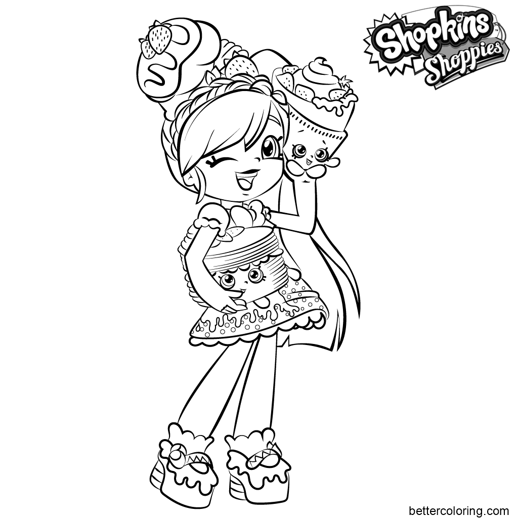 Free Shoppies Coloring Pages Pam Cake printable