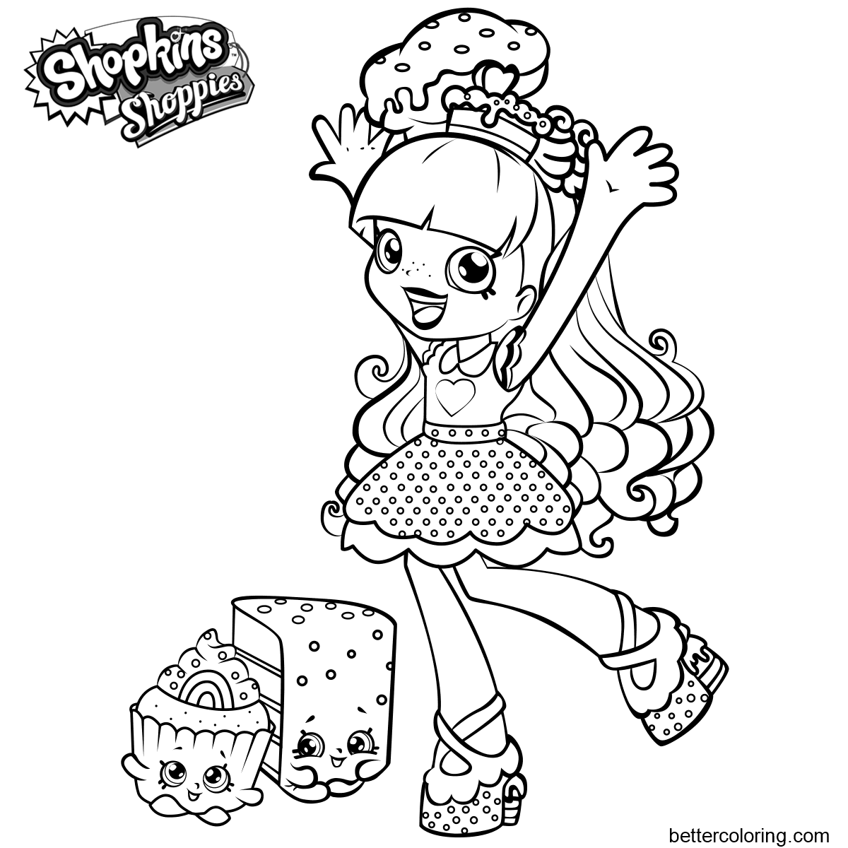 Shoppies Coloring Pages Rainbow