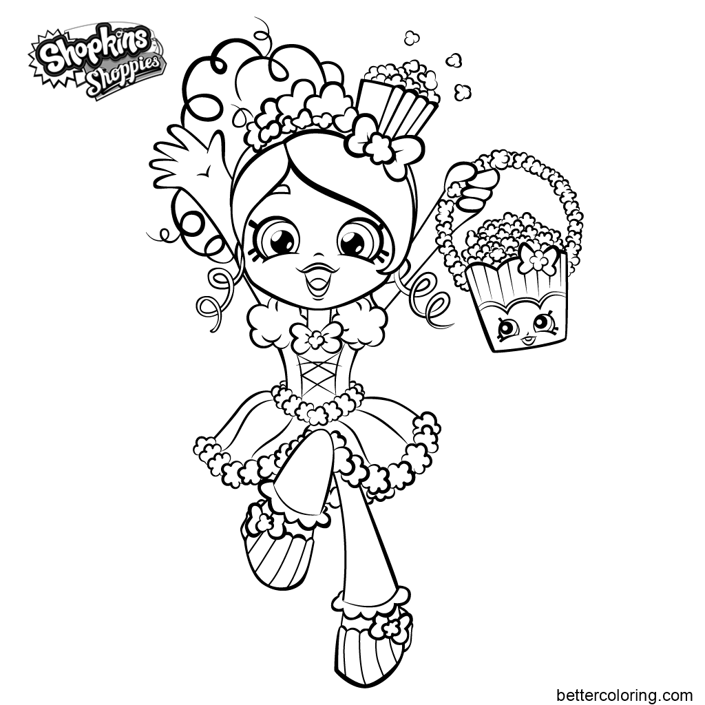 Free Shoppies Coloring Pages for Girls printable