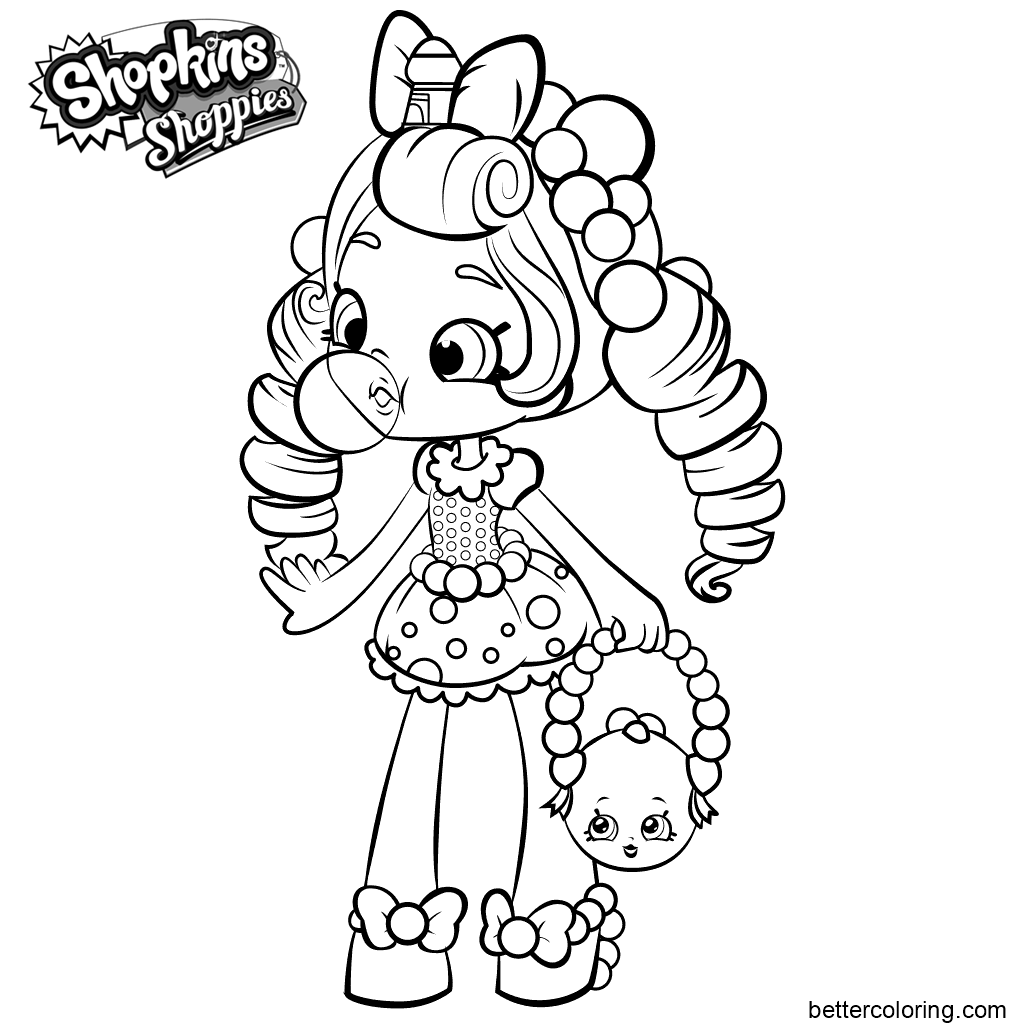 Shoppies Coloring Pages from Shopkins