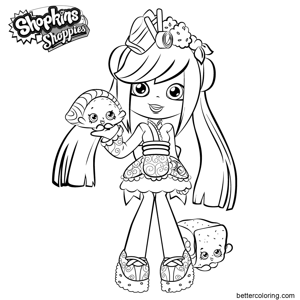 Free Shoppies from Skopkins Coloring Pages printable