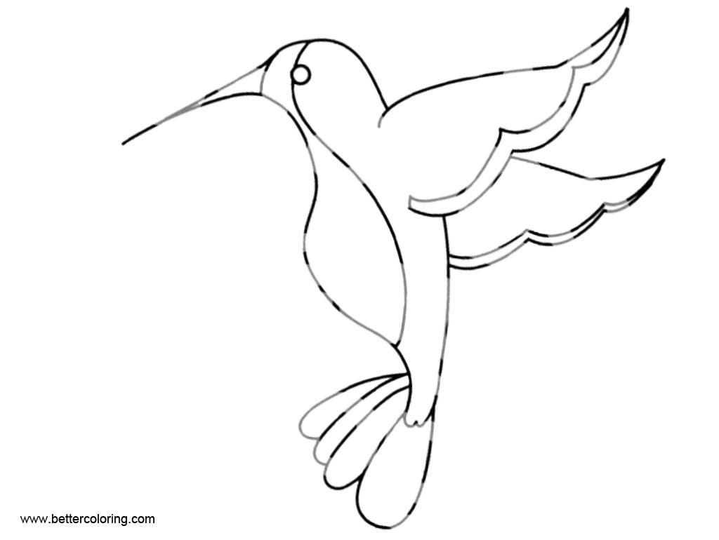 Free Simple Hummingbird Coloirng Pages printable