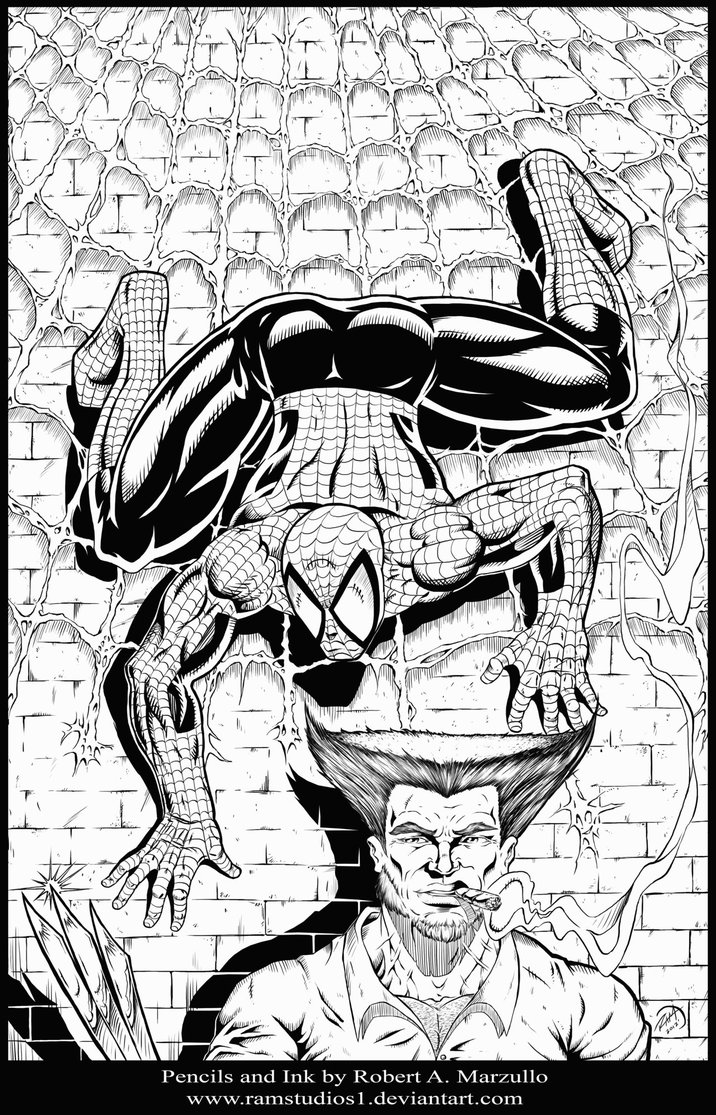 Free Spiderman Homecoming Coloring Pages Fanart by robertmarzullo printable