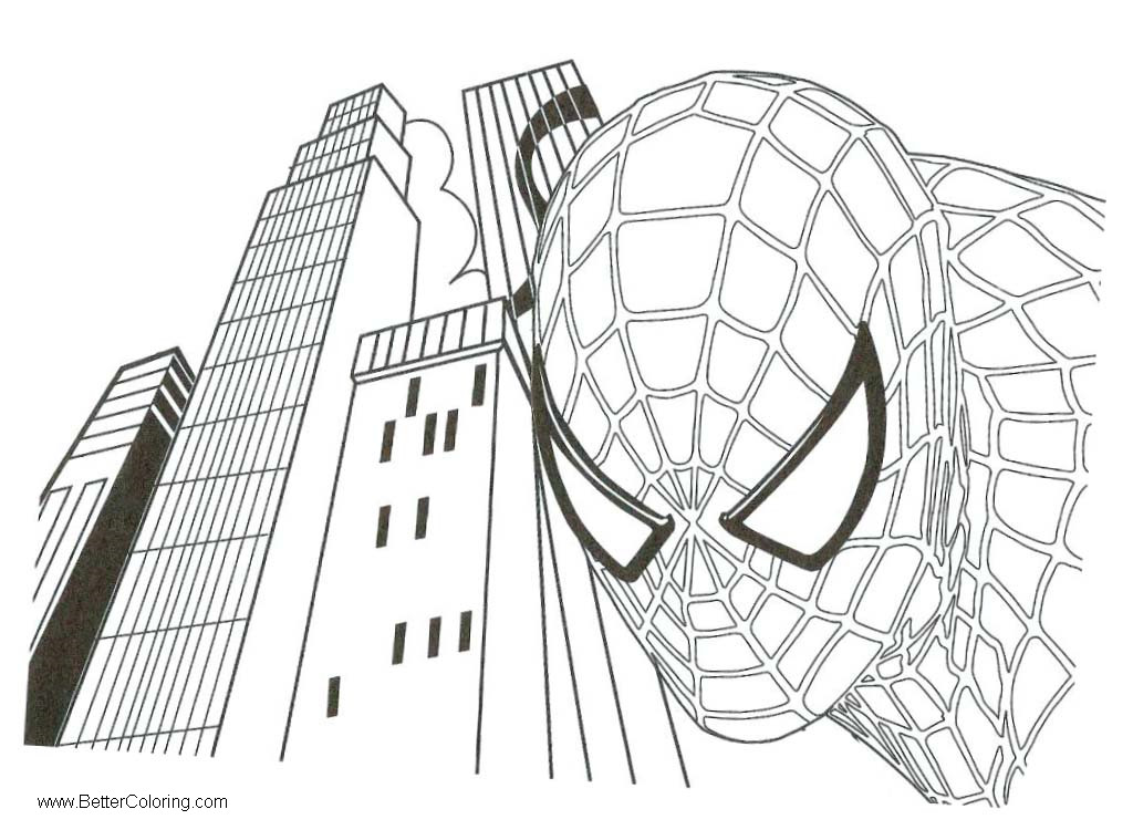 Spiderman Coloring Pages: Spiderman Homecoming Coloring Pages Head Drawing