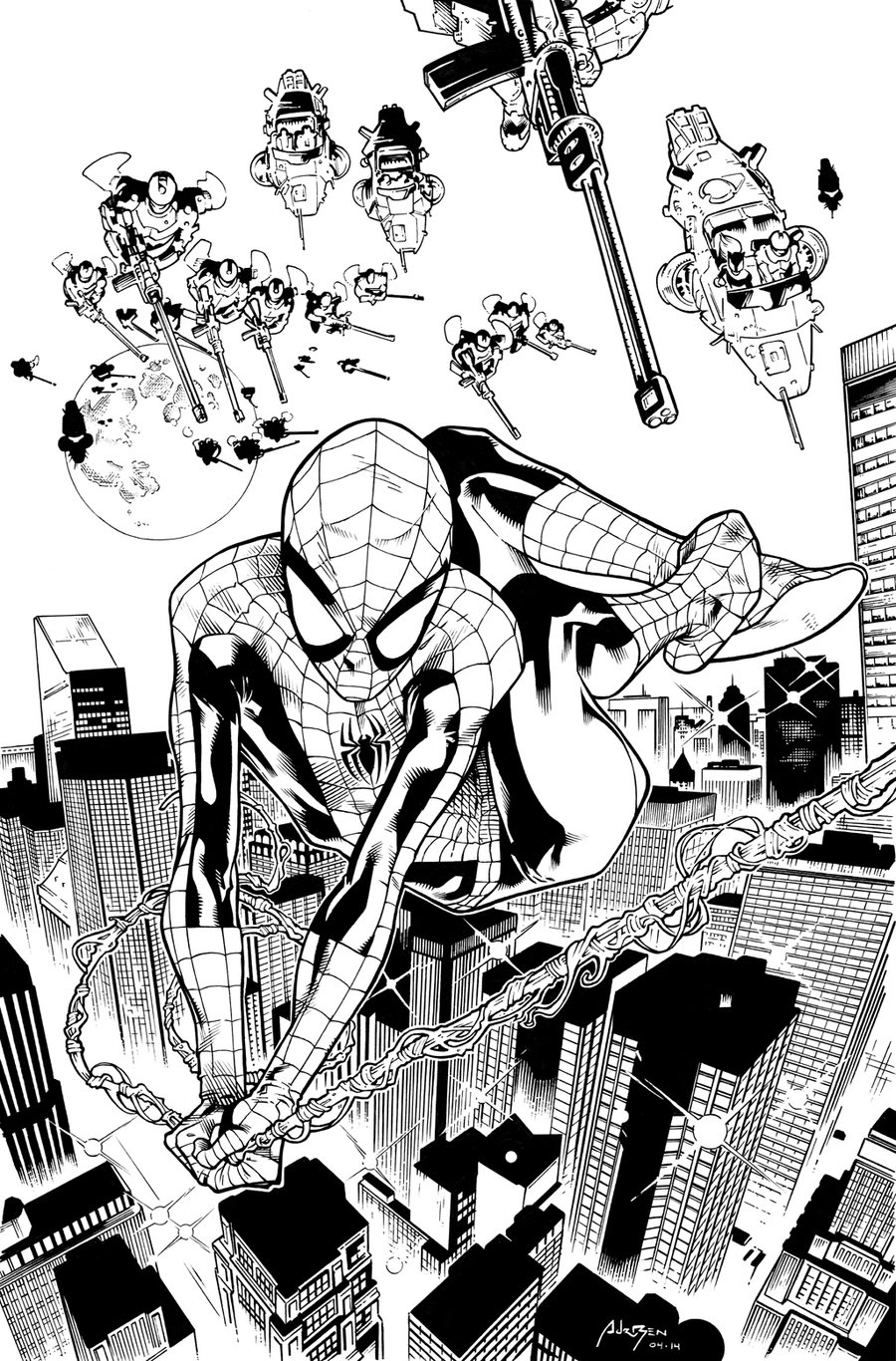 Spiderman Homecoming Coloring Pages Inks By Adr Ben Free