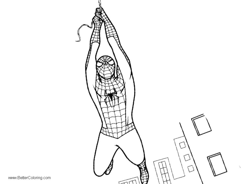 Spiderman Homeing Coloring Pages