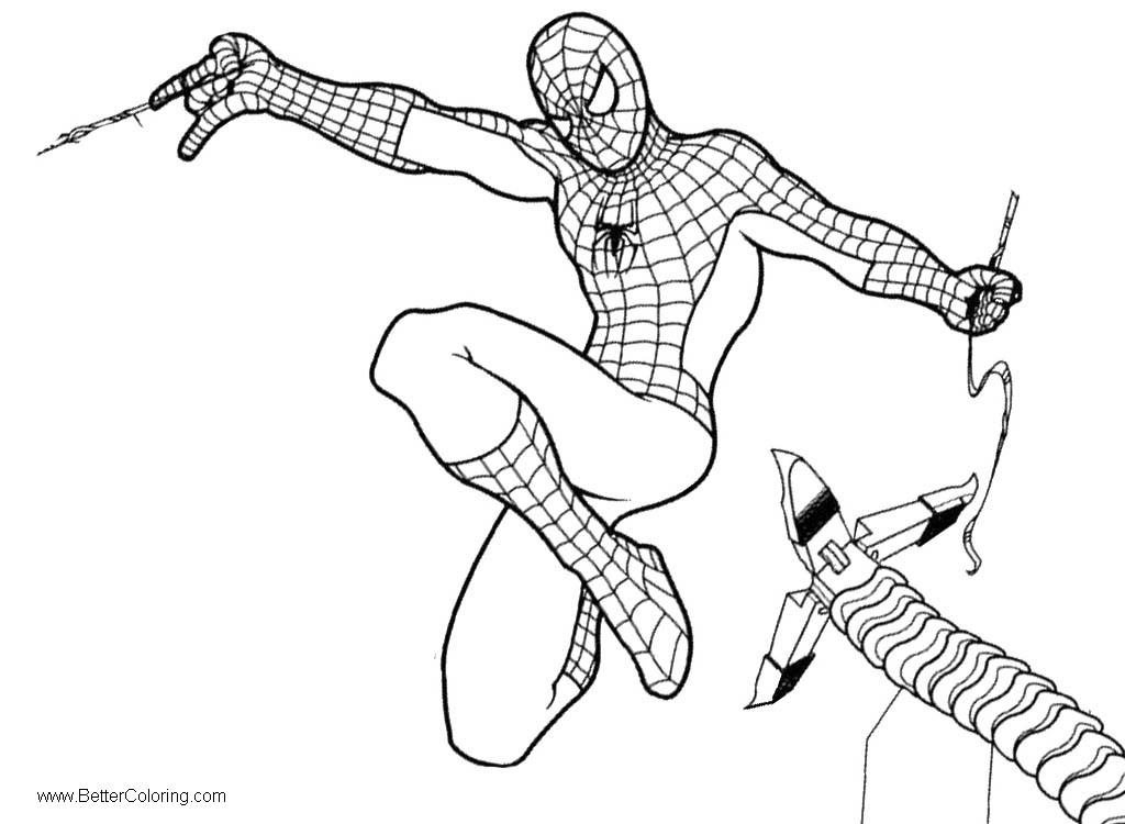 Spiderman Homecoming Coloring Pages Under Attack - Free ...