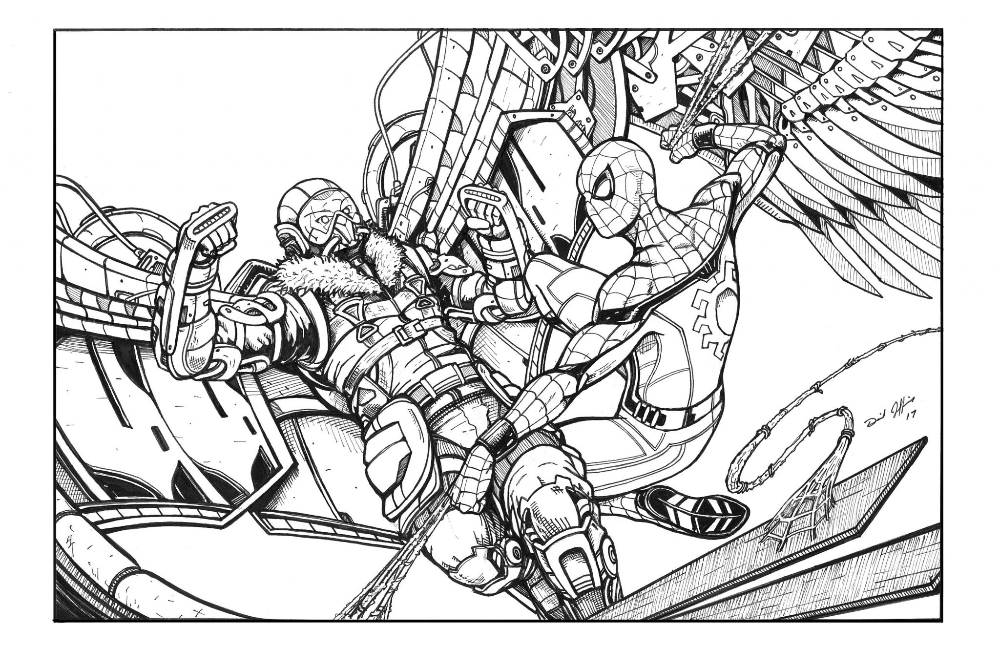 Spiderman Para Colorear Gratis: Spiderman Homecoming Coloring Pages