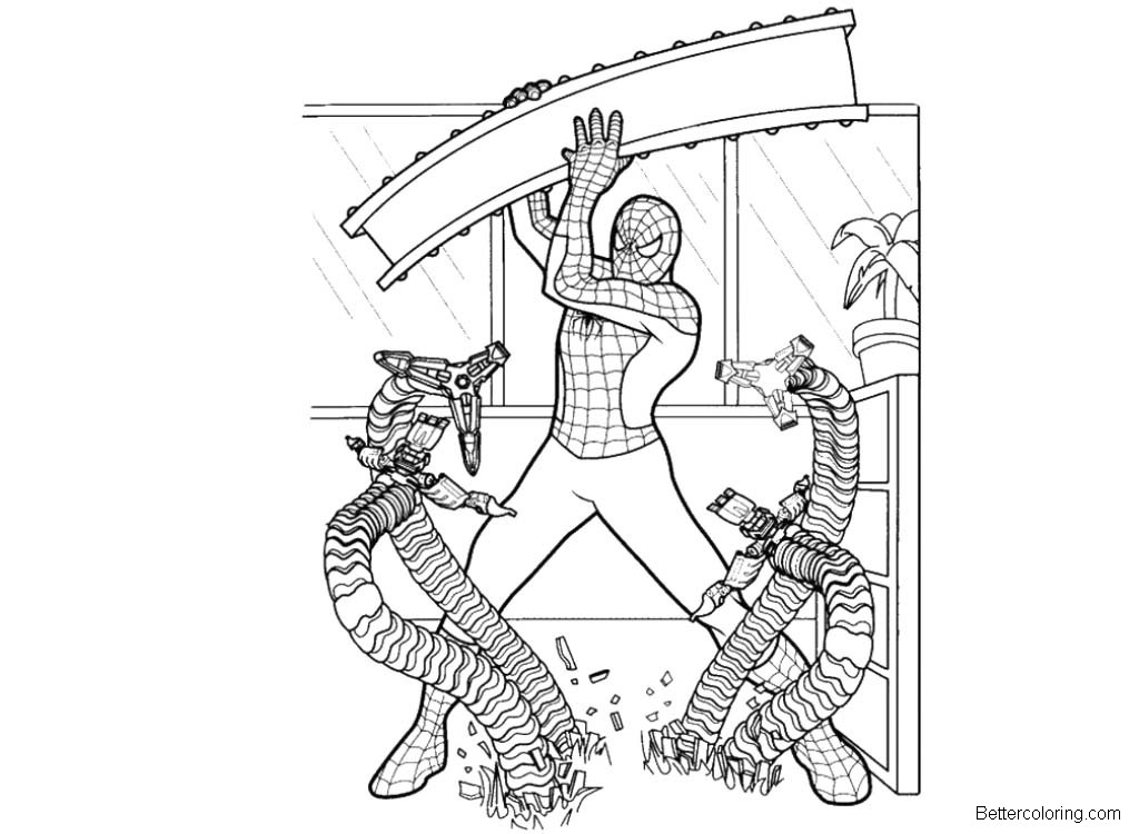 Spiderman Homecoming from Marvel Coloring Pages - Free ...