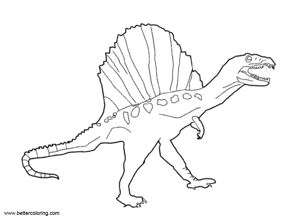 Free Spinosaurus Coloring Pages Black and White printable