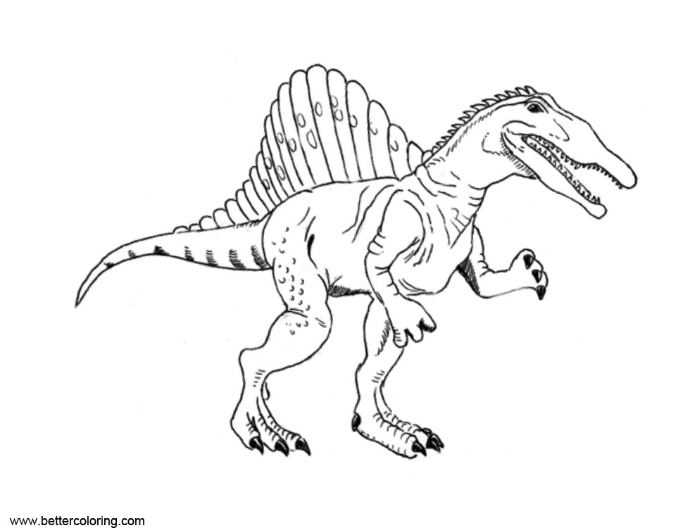 Spinosaurus Coloring Pages Clipart - Free Printable ...