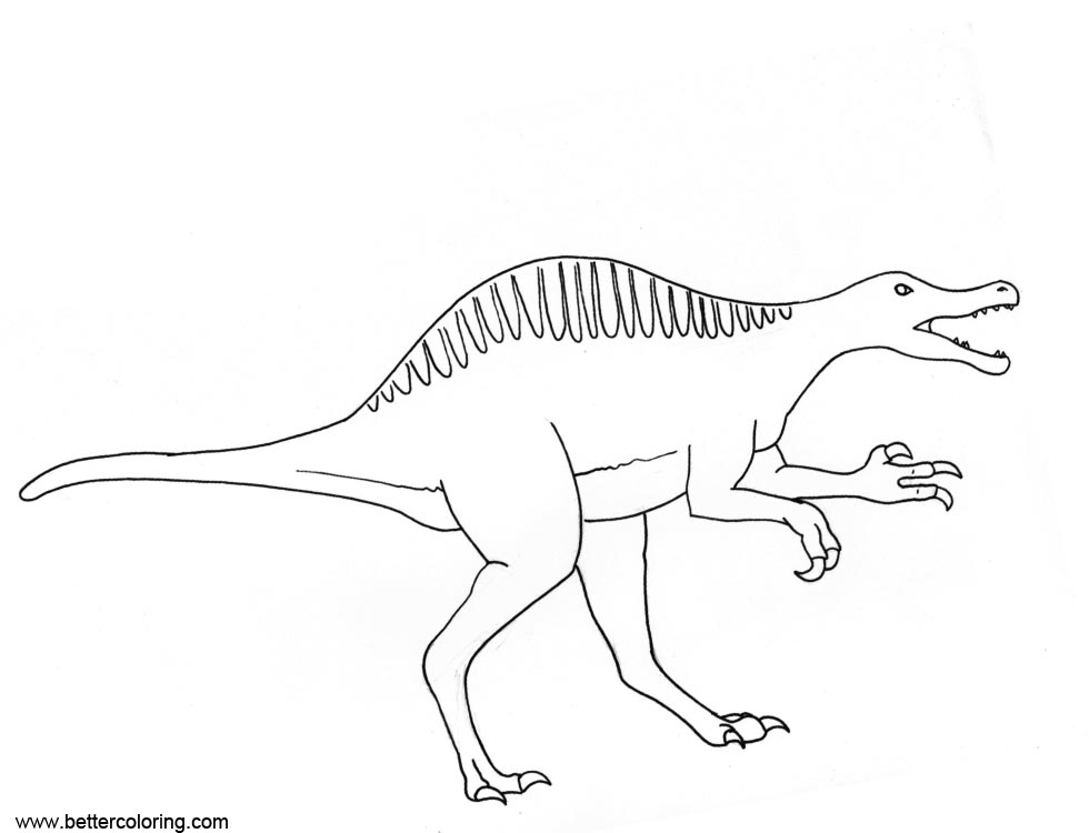 free printable spinosaurus coloring pages - photo#28