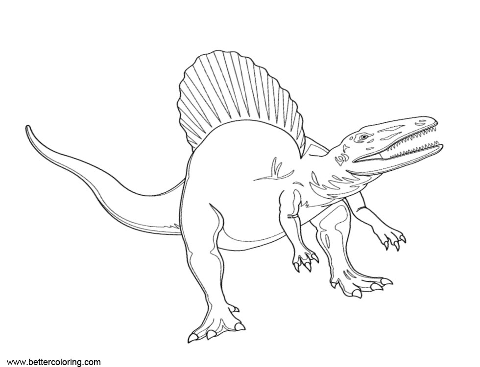 Free Spinosaurus Coloring Pages Realistic Drawing printable