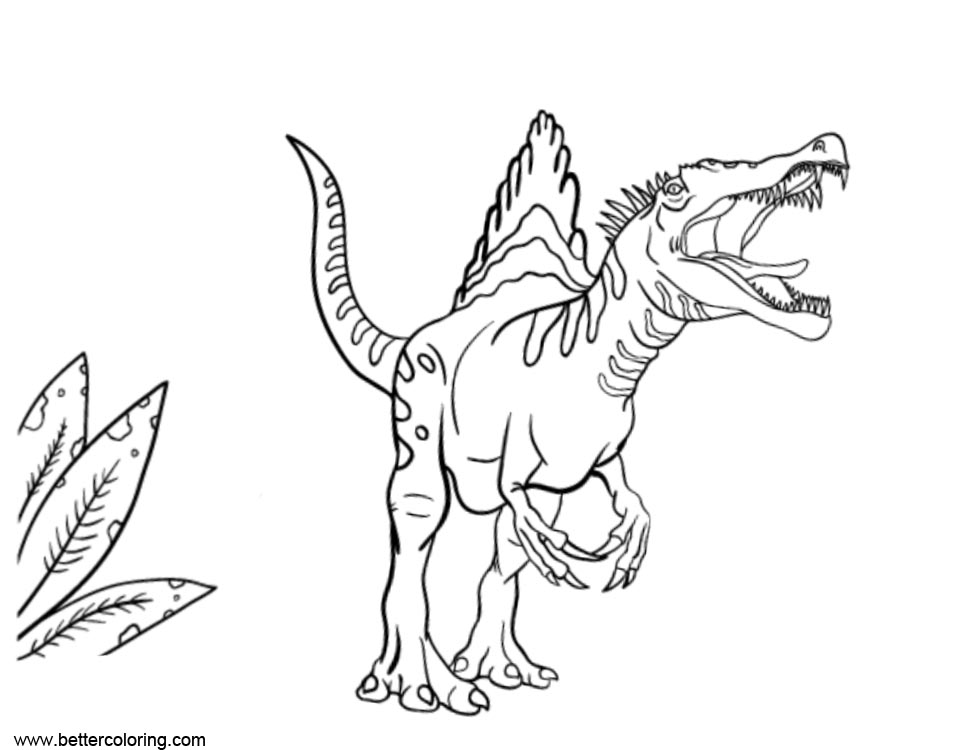 Spinosaurus Coloring Pages Screaming - Free Printable ...