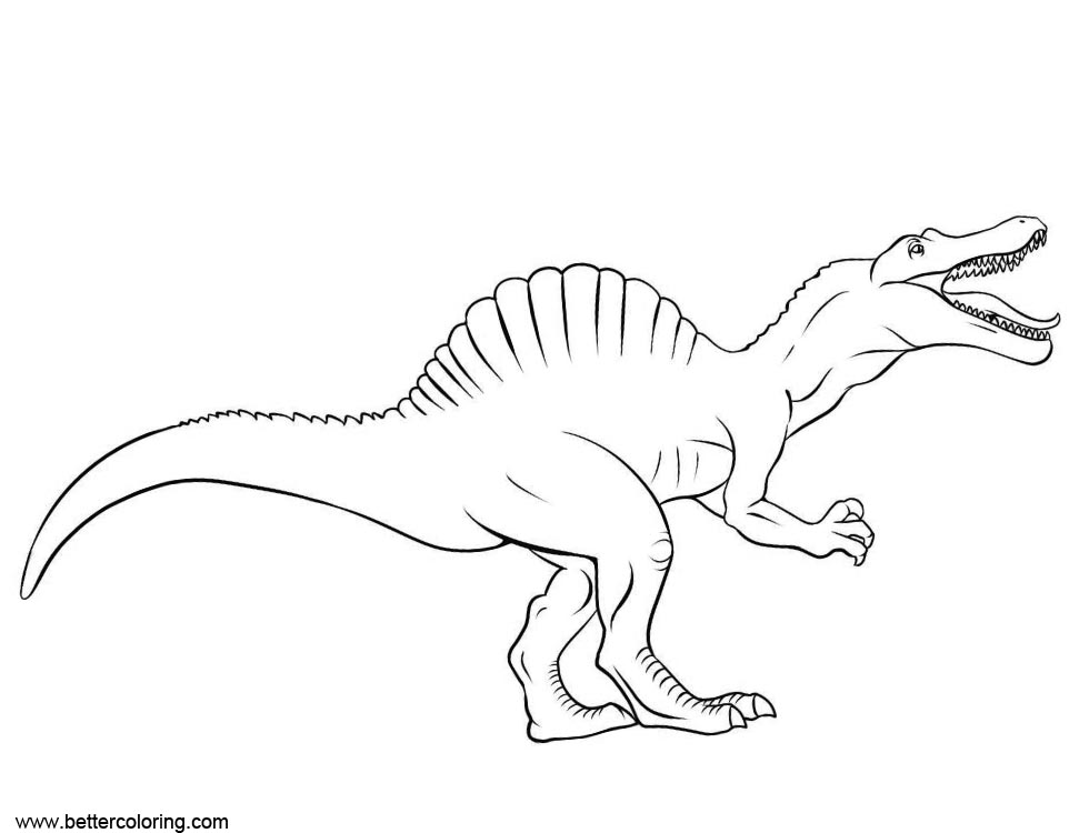 Free Spinosaurus Coloring Pages Sketch printable