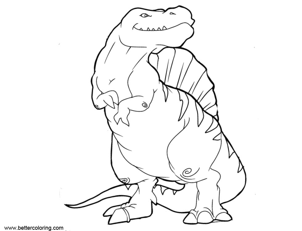 Free Spinosaurus Coloring Pages printable