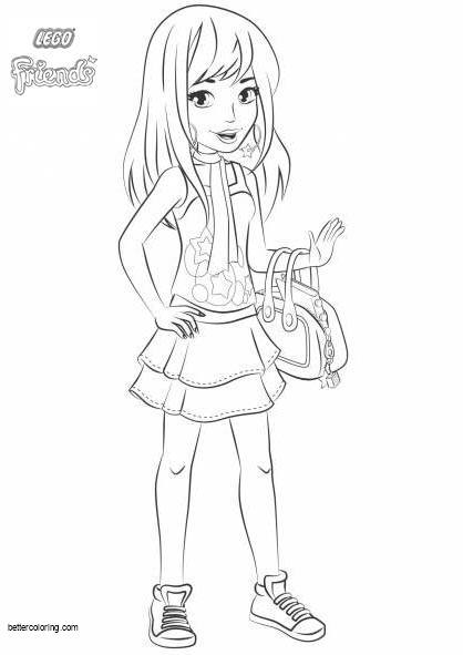 Stephanie from LEGO Friends Coloring Pages - Free Printable Coloring ...