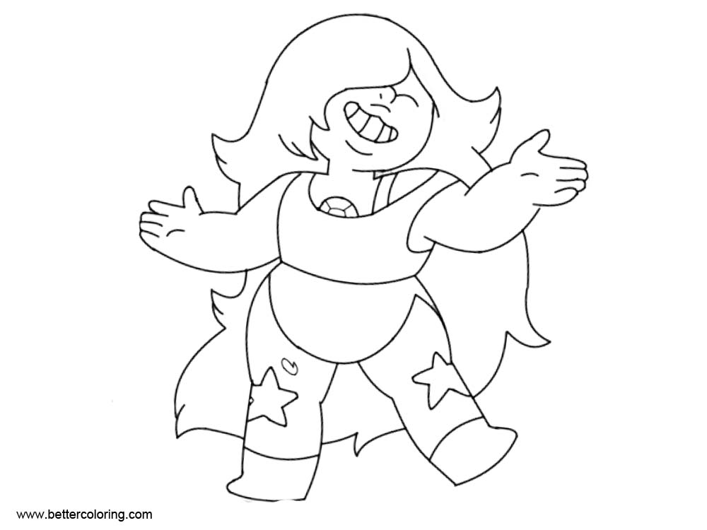 Free Steven Universe Coloring Pages Amethyst by LatianaMCA printable