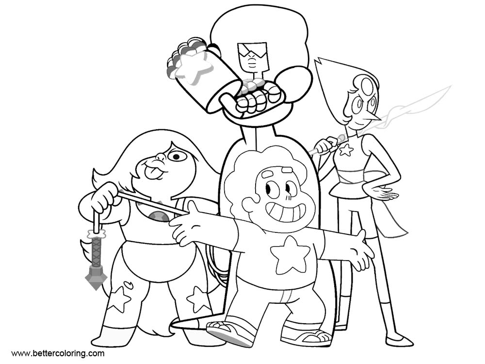 Free Steven Universe Coloring Pages Characters printable