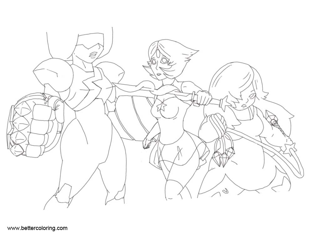 Free Steven Universe Coloring Pages Line Drawing by kmoua2256 printable