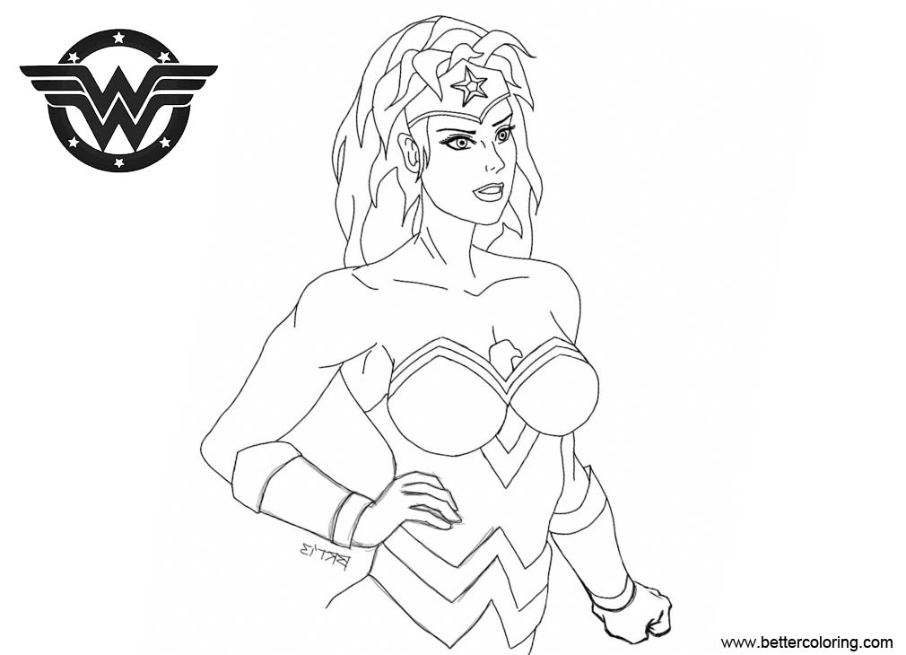 Free Super Girl Wonder Woman Coloring Pages by blongblang printable